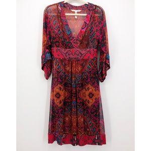 DIANE VON FURSTENBERG Thea Silk Kimono Midi Dress